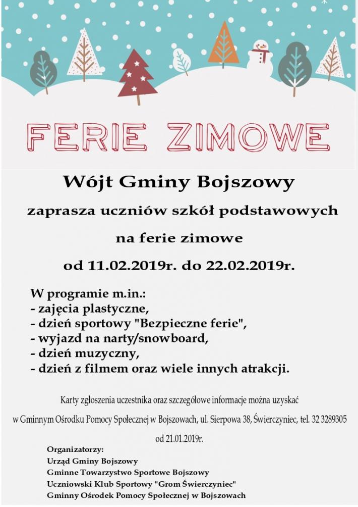 Plakat Ferie Zimowe