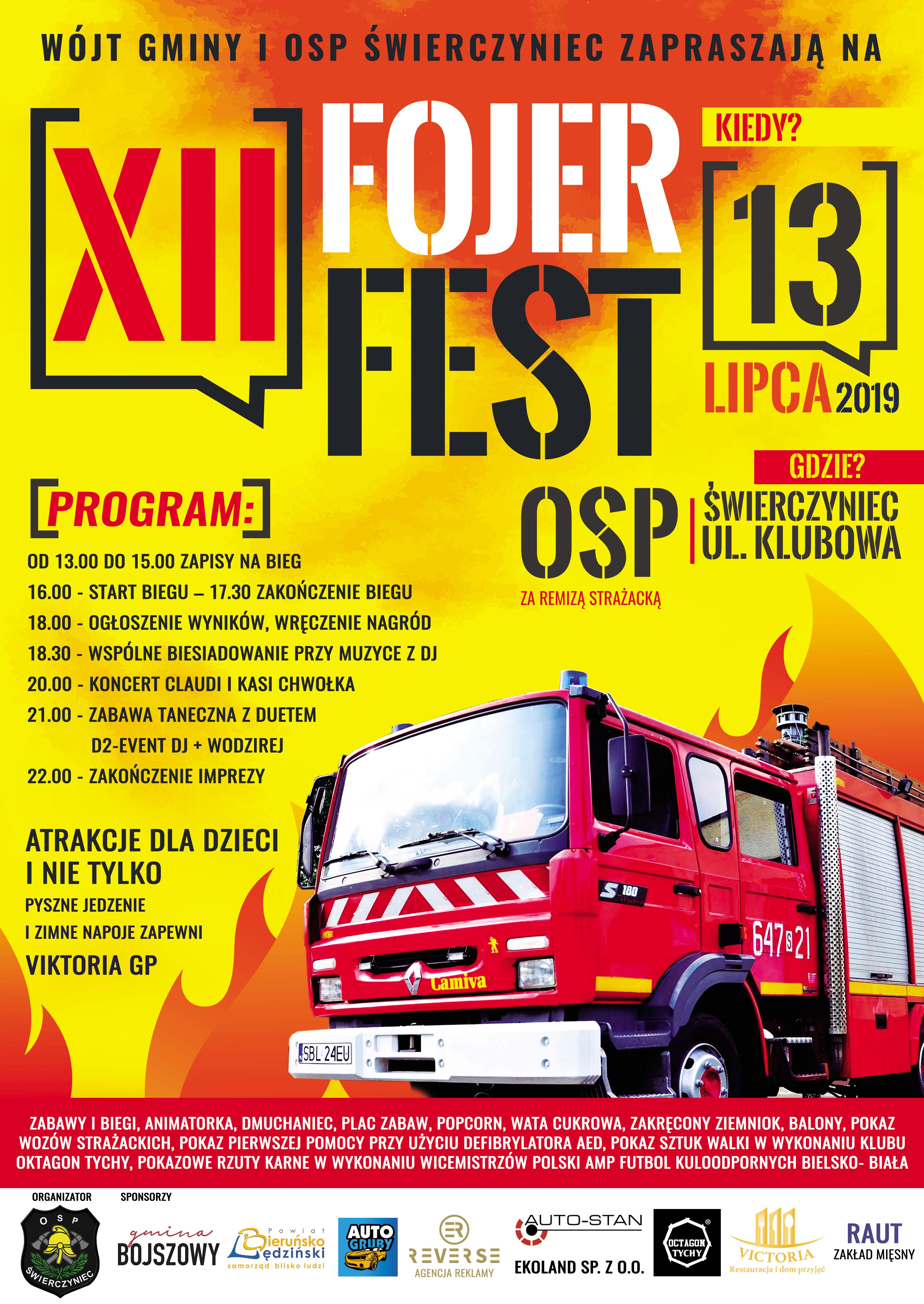 Plakat XII Fojer Fest