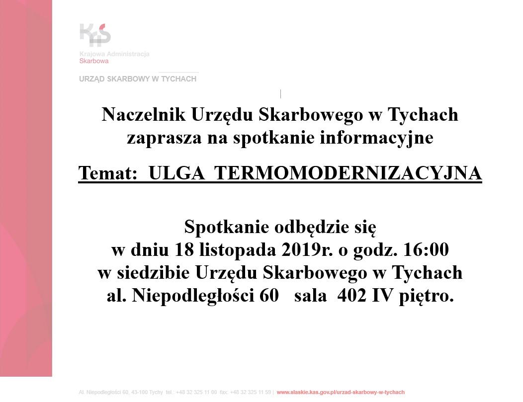 informacja o spotkaniu 18.11.2019
