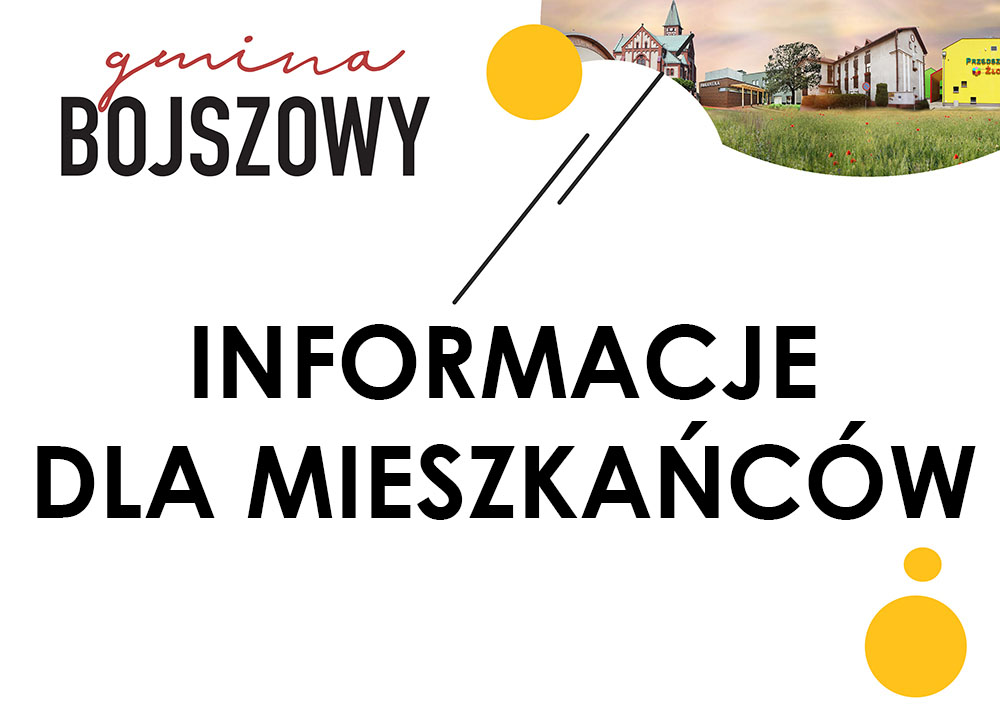 informacje dla mieszkańców