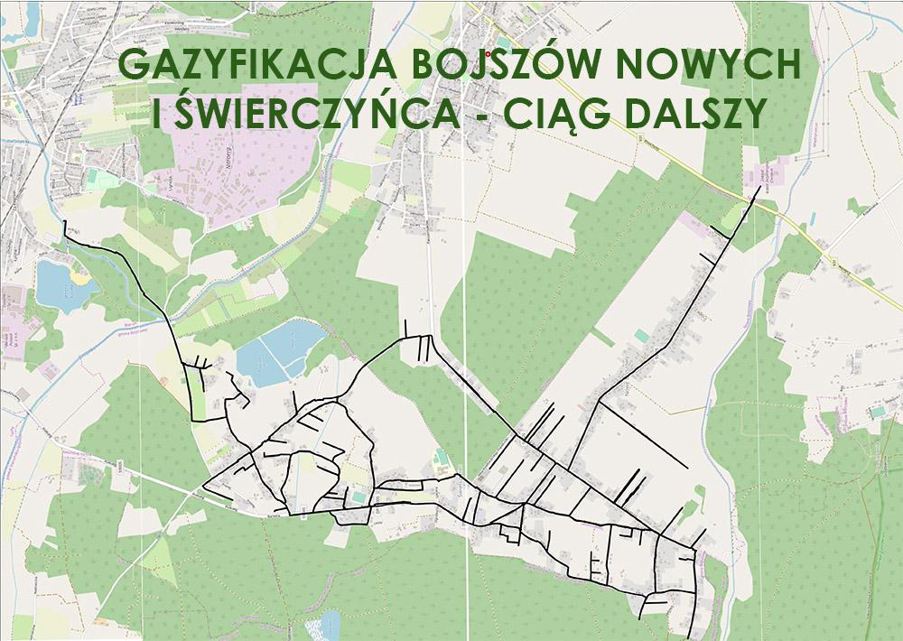 grafika: mapa gazyfikacji