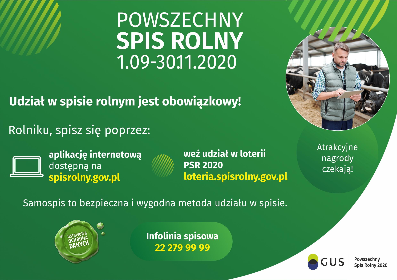 Plakat Promujący Spis Rolny 2020