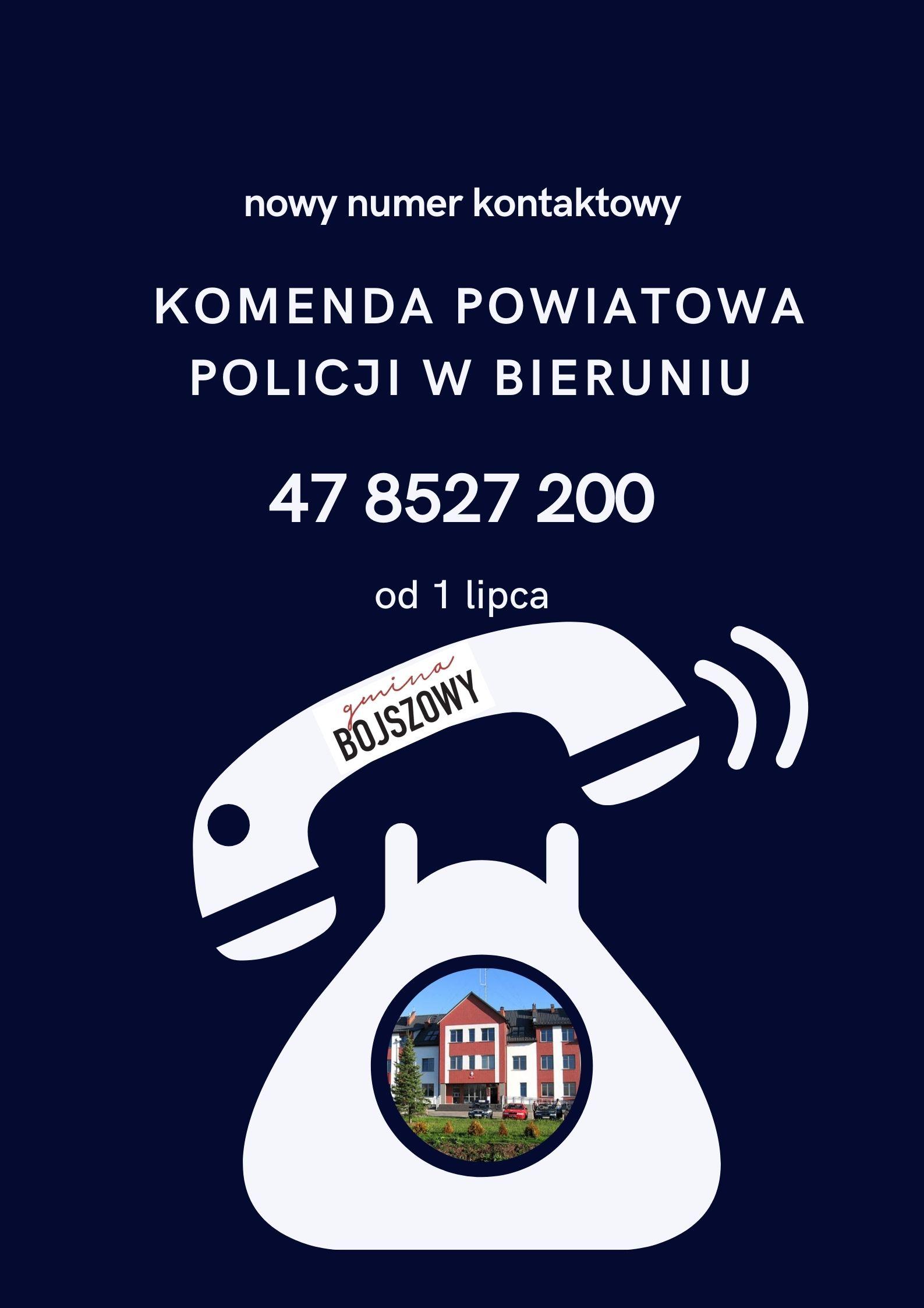 nowy numer kontaktowy do policji w Bieruniu 478527200
